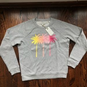 Lucky Palm Tree Pullover Crewneck Sweatshirt